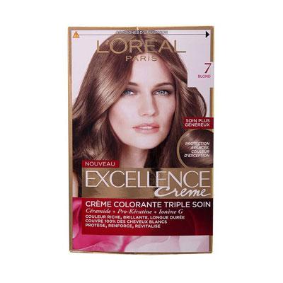 کیت رنگ مو لورآل مدل Excellence شماره 7_ راهنمای خرید رنگ مو-راهنمای خرید کیت مو