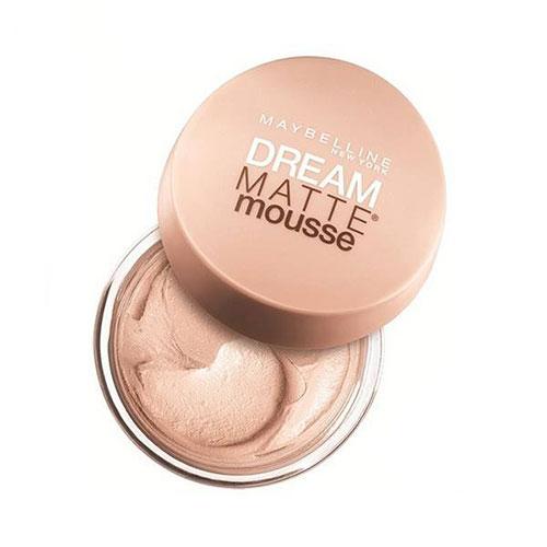 موس میبلین مدل Dream Matte Mousse Golden شماره 32_راهنمای خرید بهترین کرم پودر _ خرید کرم پوردر