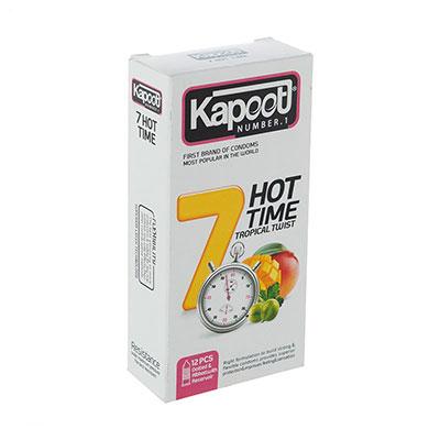 کاندوم کاپوت مدل 7Hot Time بسته 12 عددی_راهنمای خرید اینترنتی کاندوم