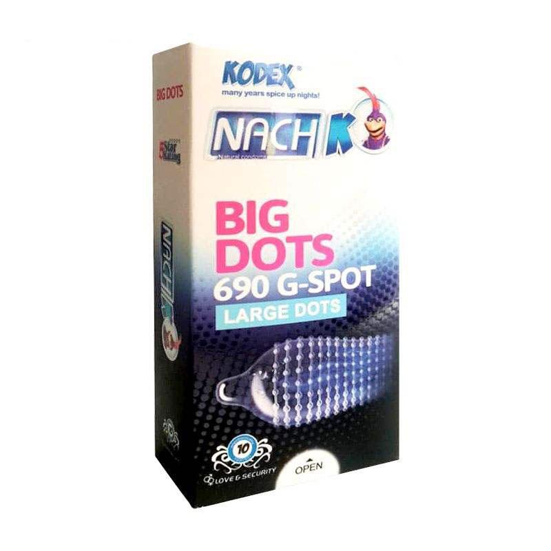 خرید کاندوم خاردار ناچ کدکس مدل BIG DOTS بسته 10 عددی _ راهنمای خرید کادوم انلاین