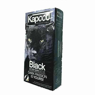 کاندوم کاپوت مدل Black Ultra Safe بسته 12 عددی_خرید انلاین کاندوم