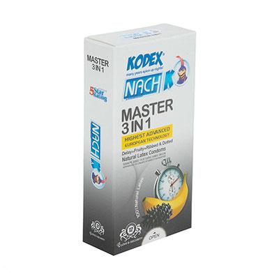 کاندوم تاخیری کدکس مدل Master 3 In 1 بسته 12 عددی_راهنمای خرید کاندوم انلاین